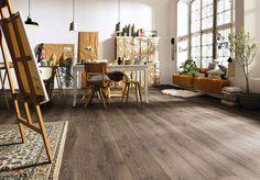 Laminat Dekor Landhausdiele Gran Via Räuchereiche Terreno gekalkt - Foto:HARO-Hamberger Flooring GmbH & Co. KG