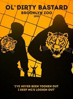 Ol' Dirty Bastard, Brooklyn Zoo Minimalist Hip Hop Tour Posters | BruteBeats, Your Visual Radio Hip Hop Station | www.brutebeats.com | #hiphop #rap #brutebeats #beats #classics #underground #tourposter #gigposter