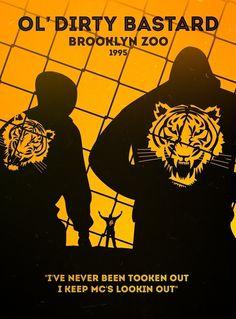 Perfect Minimalist Rap Posters - Ol' Dirty Bastard, Brooklyn Zoo