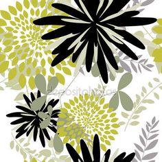 Stáhnout - Bezešvé květinové pozadí — Stocková ilustrace #3609907