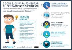 5 consejos para fomentar el pensamiento científico #infografia #infographic #education
