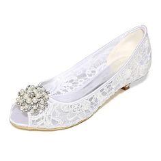 Női Esküvői cipők Magasított talpú Tavasz Nyár Csipke Háló Esküvő Party és Estélyi Strasszkő Gyöngy Magas Fehér Fekete Rózsaszín Kristály