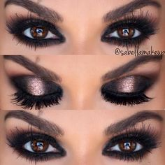 Make your smoked out eyes stand out with a drizzle of undeniable shimmer. Recreate this makeup look on your night out with the products recommended here.