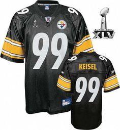 70ca76c68db ... Jersey Reebok Pittsburgh Steelers Brett Keisel Authentic 99 Black  Jerseys Sale ...