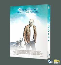 LOOPER FullSlip rear side  #filmarenacollection #fullslip #bluray #movie #josephgordonlevitt #brucewillis #steelbook #steelbooks