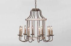 Adele Chandelier Lighting Birdcage 10 Lights Gabby SCH-550245 D 26.5 H 25  $747.50