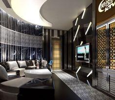 Semicircular KTV Room Interior Design