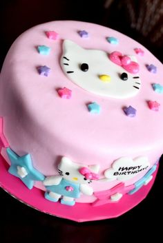 Birthday Cake For The Girl Hello Kitty Design My