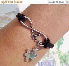 ON SALE Infinity Love Bracelet Autism Bracelet by SummerWishes
