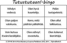 Erilaisia tutustumisbingoja, mukana Karanteenibingo ja Bongausbingo Bingo