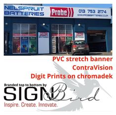 More Order your branding today. PVC stretch banners, Contravision and digital prints on chromadek. We do it all ! #signbird #pvcbanners #contravision #digitalprints #signbird #Sinage #Graphicdesigns #symbols #emblems #FloorMats #RollUpBanners #PVCBanners