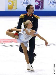 Tatiana Volosozhar & Maxim Trankov (RUS) 2013 Skate America #FigureSkating
