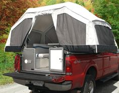 Canvas Pick Up Tent   Very cool tent camper for a truck
