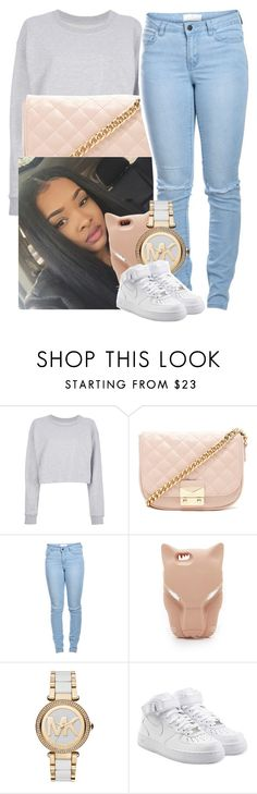 """""""✨"""" by saucinonyou999 ❤ liked on Polyvore featuring Maison Margiela, Forever 21, Pieces, STELLA McCARTNEY, Michael Kors and NIKE"""