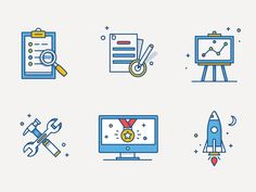 New illustration set that was made for Atlassian!  Follow us on Twitter & Facebook & Instagram