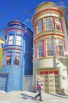 Central Ave (between Page St & Haight St) Haight-Ashbury / San Francisco / CA San Francisco Girls, Living In San Francisco, San Francisco City, San Francisco California, California Dreamin', Northern California, Most Beautiful Cities, Beautiful Buildings, San Francisco Architecture