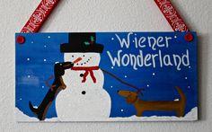 Dachshund Christmas Door  Decoration Wiener by MaxMinnieandMe