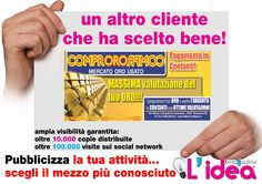 grafica da noi realizzata per Compro Oro -Rossano- CS