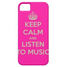 Iphone hoesje with keep calm text iPhone 5 cover