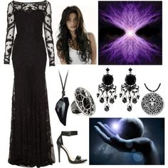"""Chaos (The First Goddess, Primeval Goddess of Air)"" by lilacmayn on Polyvore"
