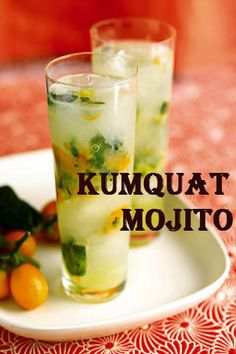 Ingredients: Kumquat + white rum + club soda + limes + mint leaves Dubbed the oranges of Asia, the kumquat fruit adds a sour yet tarty twist into the traditional mojito. Recipe