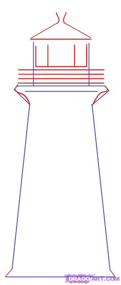 Step 2. How to Draw a Simple Lighthouse