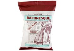 Trader Joe's: Baconesque White Cheddar Popcorn . And it has no bacon in it but it sure tastes amazing!