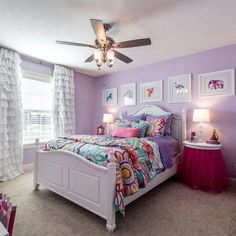 Teen Girl Bedrooms - The whip smart cool teen girl room tips and tricks. For additional satisfying teenage girl room styling info simply visit the link to read the pin suggestion 5471840477 today. Bedroom Ideas For Teen Girls, Girl Bedroom Designs, Teen Girl Bedrooms, Girls Bedroom Purple, 6 Year Old Girl Bedroom, Preteen Girls Rooms, Purple Bedroom Design, Sofa Scandinavian, Fantasy Bedroom