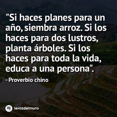If you are planning for a year, sow rice. If you are planning for a decade, plant trees. If you are planning for a lifetime, educate people. Chinese proverb lavozdelmuronet#proverbios #planes #planear #educacion #vida #educar #sabiduria #china #chino #proverbs #plains #education #life #educate #chinese #lore #inspiration #sunday #domingo #weekend #octubre #october #picoftheday #instagood #instamoment #instapic #bestoftheday #Instadaily #instacool #lavozdelmuro