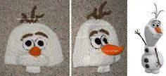DISNEY CUSTOM CROCHETED Boutique FROZEN OLAF Beanie Hat - ShopHandmade
