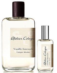 Vanilla Insensee by Atelier Cologne  Lime, cedrat, coriander, jasmine, vetiver, oak moss, Madagascar vanilla, oak wood, amber via Jen Meade