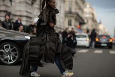 Street style from Paris, a bit over the top but hey it's Fashion Week