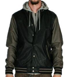 Obey-Varsity Jacket Black Grey http   www.defyboardshop.com 3e78720666