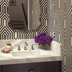Minaret Wallpaper, Contemporary, bathroom, Studio Surface
