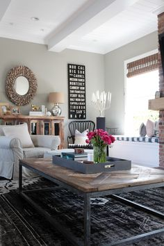 """Wall Color: Dunn Edwards DE6288 """"Play on Gray"""" Photography : Esther Sun Read More on SMP: http://www.stylemepretty.com/living/2014/04/29/newport-beach-home-tour/"""