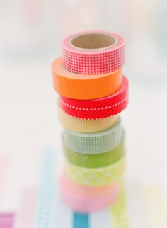 washi tape table runner... cute for a summer party.