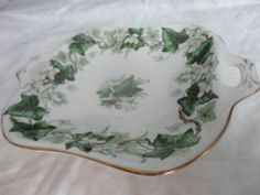 Green Leaf Royal Albert Ivy Lea Nut Dish | eBay