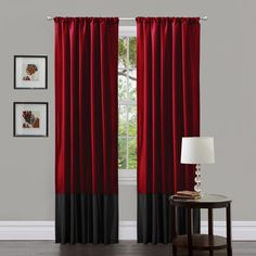 Red and Black Curtains Bedroom. Red and Black Curtains Bedroom. Red and Black Pencil Sketch Rose Curtains In 2019 Curtains Living Room, Red Curtains, Curtains Bedroom, Bedroom Red, Black Living Room, Red Rooms, Red And Black Curtains, Lush Decor, Living Room Red