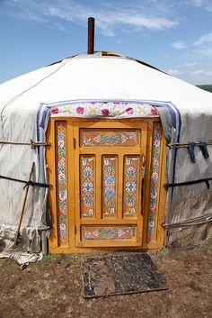Yurt Entrance. Mongolia