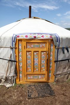 Yurt Entrance. Mongolia