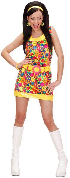 70/'s Donna Hippie Honey Kostüm NEU Damen Karneval Fasching Verkleidung Kostüm