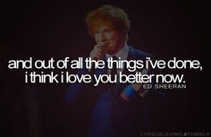 #Ed #Sheeran #Lego #House #Things #Love #you #Better #Now #Black #Love