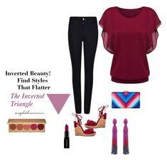 """Inverted Beauty!"" by invertedbeauty ❤ liked on Polyvore featuring Armani Jeans, Aquazzura, Oscar de la Renta, Stila, Smashbox, La Regale, bodytype, invertedtriangle, appleshape and broadshoulders"