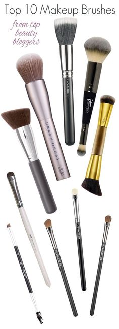 Top 10 makeup brushes as rated by top beauty bloggers.