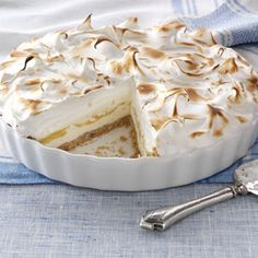 Lemon Meringue Ice Cream Pie Recipe from Taste of Home