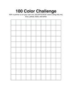 The Awakened Artist: A Choice-Based Art Classroom: 100 Color Challenge