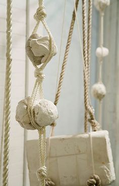 Carriage Constellation,  2010  dimensions vary,  plaster components and rope    Ruth Hardinger