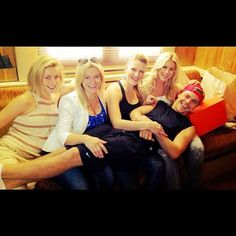 Derek Hough and his four sisters.