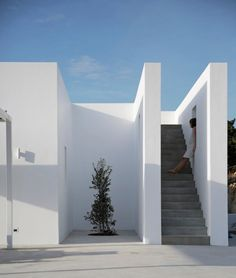 Maison Kamari is an elegant white home on the island of Paros, Greek Aegean Sea. By Natasha Deliyianni & Yiorgos Spiridonos of React Architects, this dwelling promotes a lovely balance between ancient island and modern architecture.