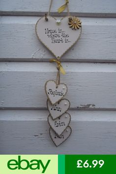💕New Personalised 'Home is where the heart is' plaque,sign,Valentine gift, Wooden Hearts Crafts, Heart Crafts, Wooden Crafts, Valentine Day Wreaths, Valentines Day Decorations, Valentine Day Crafts, Diy Home Crafts, Clay Crafts, Diy Clay